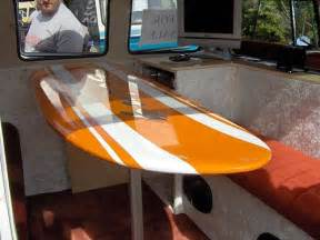 surfboard table lake house decorating