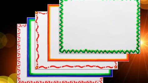 How To Make A Chart Paper Attractive - border borders for projects on paper