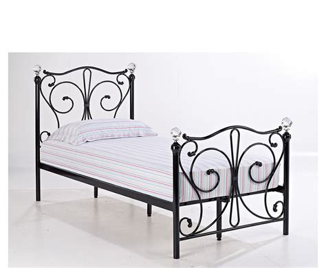 black metal bed frame empoli black metal bed frame
