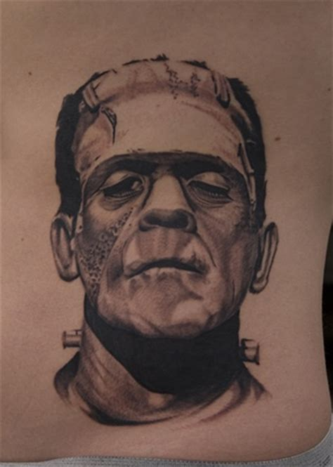 frankenstein tattoos oak boris karloff as quot frankenstein quot by oak