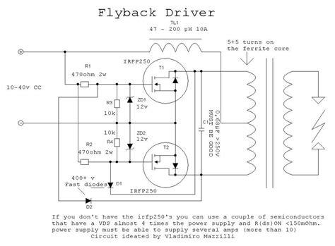 transistor flyback driver circuit flyback driver 3 zvs jozef bogin jr