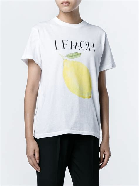 Lemon Tshirt by Lyst Ganni Lemon Print T Shirt In White