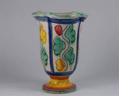 Handmade Italian Pottery - items similar to vintage handmade vase italian pottery
