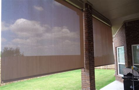 roll down curtains exterior shade works of texas