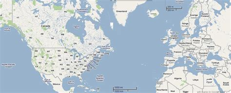 map usa europe map usa and canada border