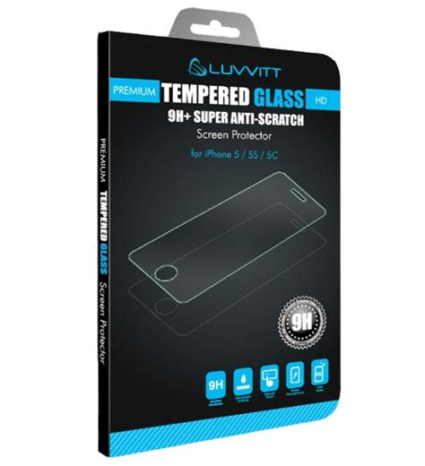 Tempered Glass Clear Fashion Iphone 5 luvvitt tempered glass screen protector for iphone 5 5s 5c clear buy in