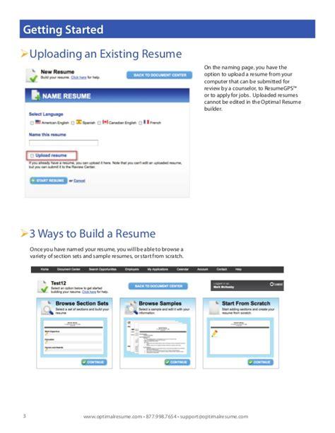 optimal resume builder optimal 2 0 resume builder help