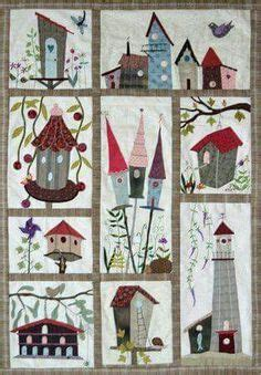 english pdf pattern building houses from scraps quilt story quilt 2 by yukari takahara japanese quilting