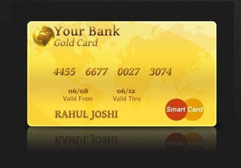 Template Credit Card Gold 12 Free Credit Card Design Psd Templates