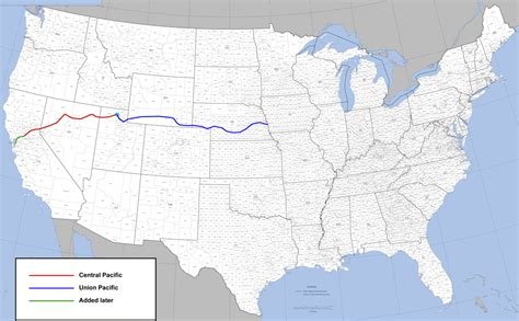 railroad map united states file transcontinental railroad route png