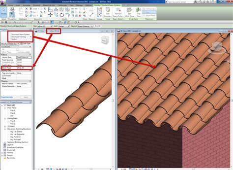 tile pattern in revit revitcity com barrel tile roof by extrusion
