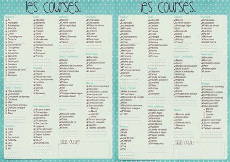 Modele Liste De Course les 12 listes de courses pr 234 tes 224 imprimer mod 232 les pdf