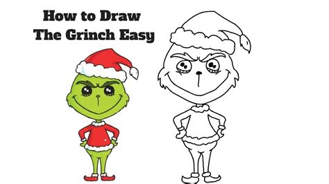 how to draw grinch youtube how to draw the grinch easy easy step by step youtube