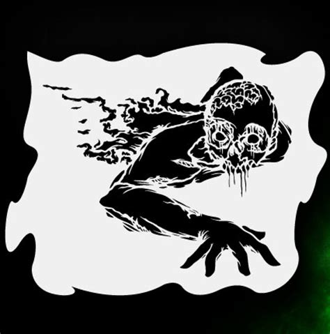 printable zombie stencils zombie crawler 1 airbrush stencil template airsick