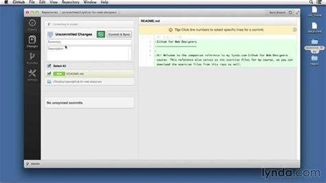 github tutorial lynda adding new files