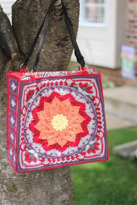 crochet jute bag pattern enchanted garden bag tutorial using plastic canvas instead