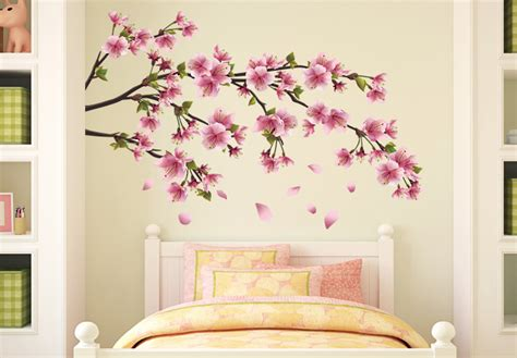 cherry blossom wall stickers cherry blossom branch wall decal beautiful vinyl decoration