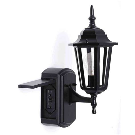 outdoor light fixture with gfci outlet 10 facts to know about wall lights with outlet warisan