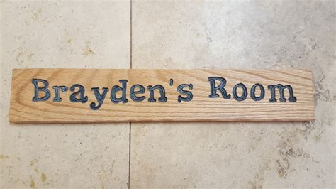 handmade inked personalized custom name child s room sign