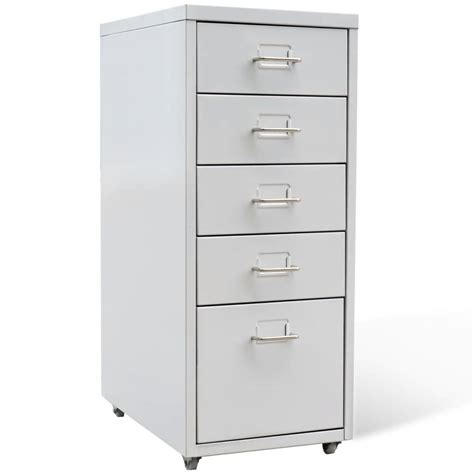 5 drawer file cabinet metal filing cabinet with 5 drawers grey vidaxl co uk