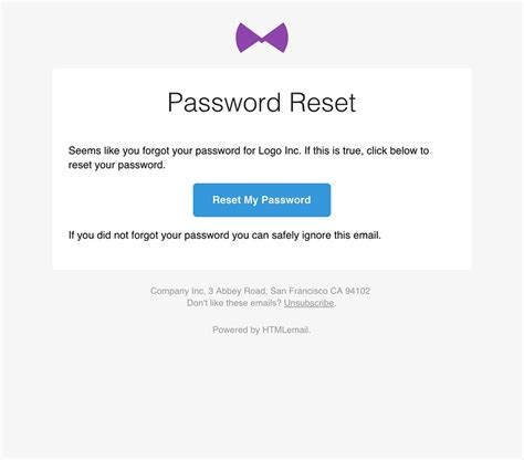 Responsive Forgot Password Reset Email Template Forgot Password Email Template