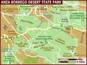 Anza Borrego State Park Map by Borrego Springs Life August 2012