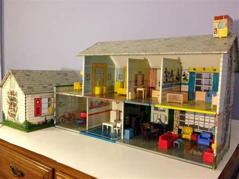 dolls house games details about vintage marx tin litho 1950 doll house game room breezeway with furniture disney