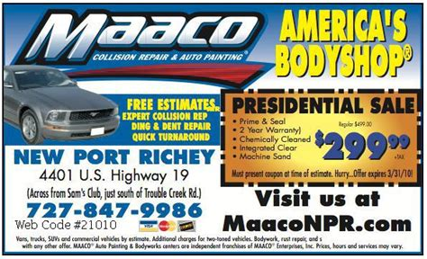 maaco car painting cost maaco auto painting new port