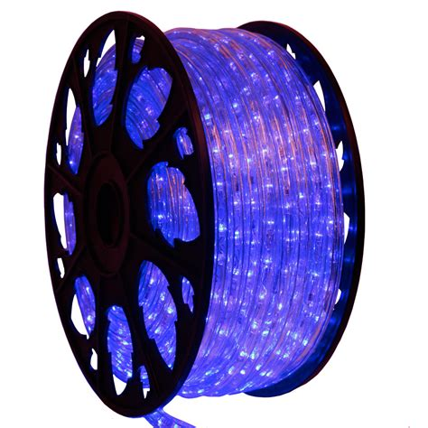 145 chasing led blue rope light kit 120v by aql