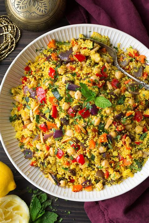 cuisiner couscous moroccan couscous with roasted vegetables peas and