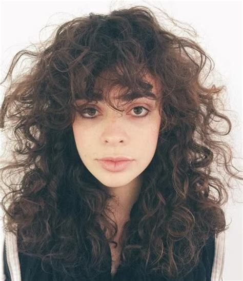 Hairstyles With Bangs And Curls best 25 bangs curly hair ideas on curly hair