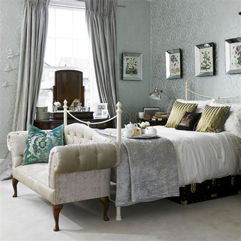 bed decoration bedroom small grey theme romantic country style master