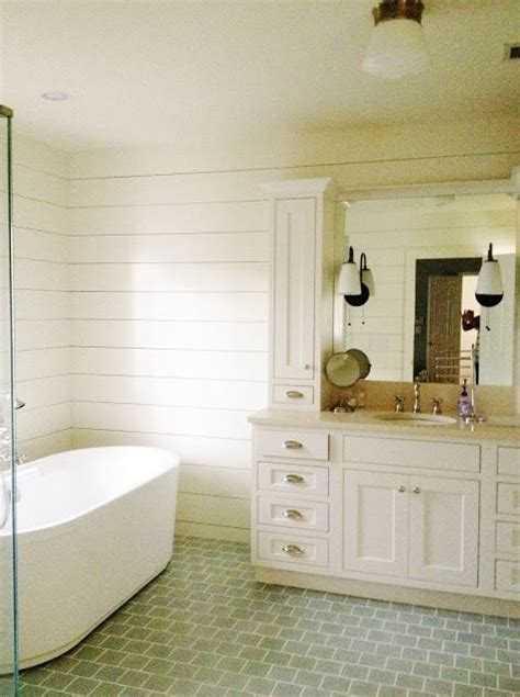 Tile Shiplap Style Home Clients Master Bath Before After
