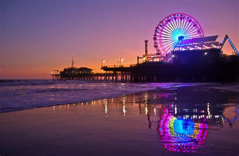 Light California by Santa Pier Ferris Wheel To Go Mostly In May