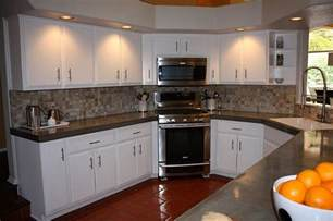 Kitchen Cabinets Countertops by Remodelaholic Quick Install Of Concrete Countertops