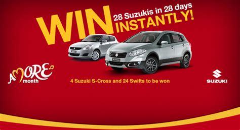 Mcdonalds Suzuki Mcdonalds Win 4 X Suzuki S Cross And 24 X Suzuki Swifts