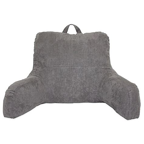 bed bath and beyond husband pillow faux suede backrest bed bath beyond