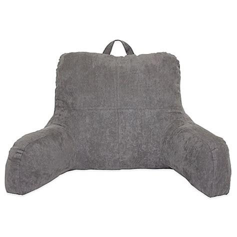 bed bath and beyond husband pillow premium backrest pillow faux suede backrest bed bath beyond