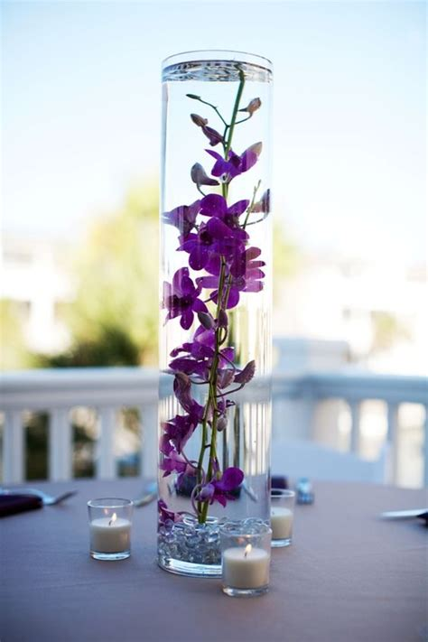water vase centerpieces water centerpieces and flower on