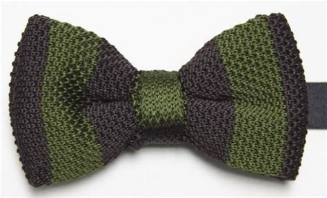Knit Bowtie Brown olive and brown knitted bow tie with free and fast uk delivery