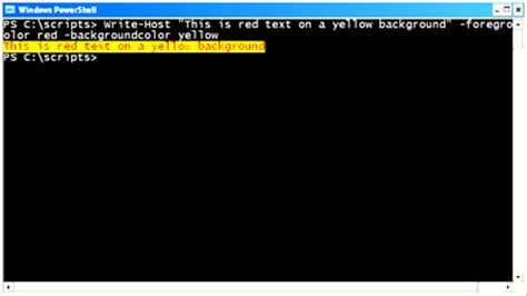 powershell write host color using the write host cmdlet