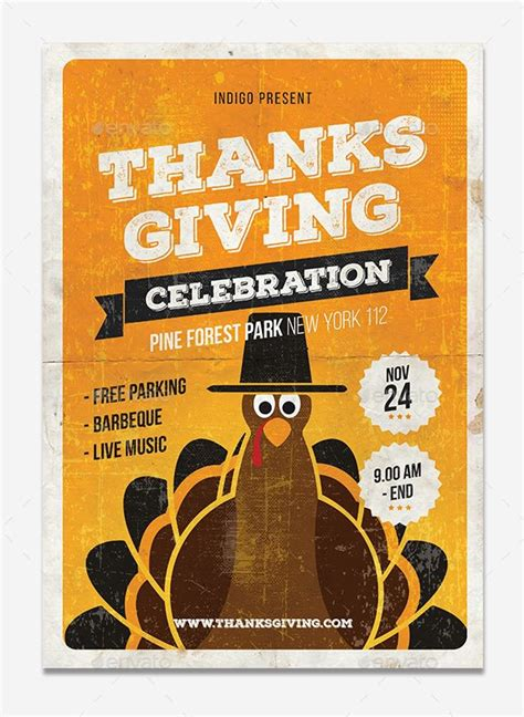 30 Thanksgiving Vector Graphics And Greeting Templates Super Dev Resources Free Printable Thanksgiving Flyer Templates