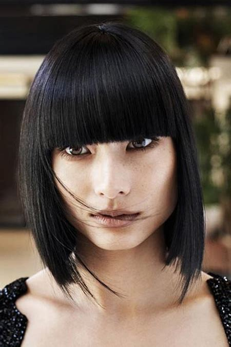 blunt fringe hairstyles best hairstyles with blunt bangs ourvanity com hot