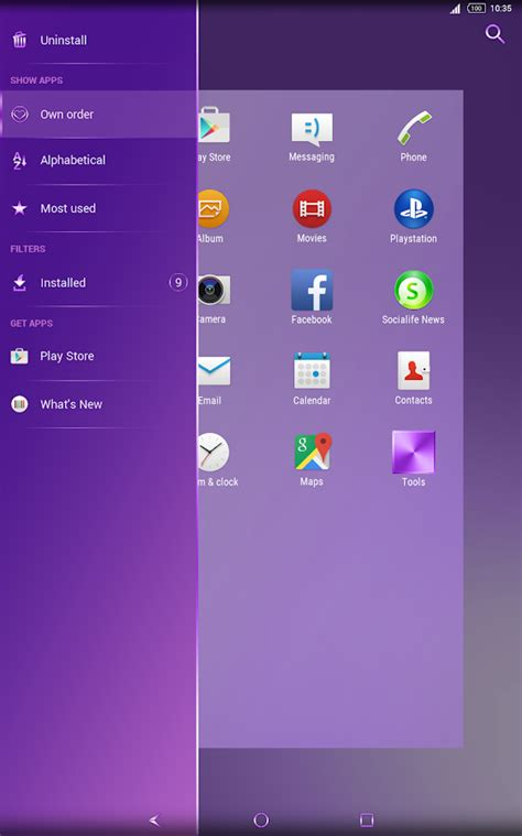 xperia themes play store shiny purple theme for xperia android apps on google play