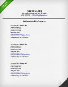 List Of References Template by References On A Resume Resume Genius