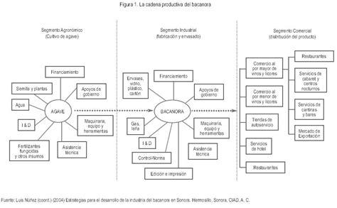 tipos de cadenas productivas en mexico la producci 243 n y comercializaci 243 n de bacanora como