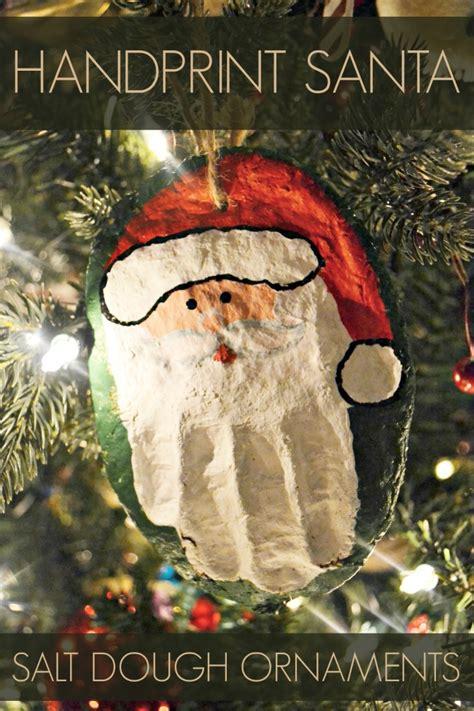 Homemade Christmas Gifts Grandparents - hand print santa salt dough ornament this s life blog