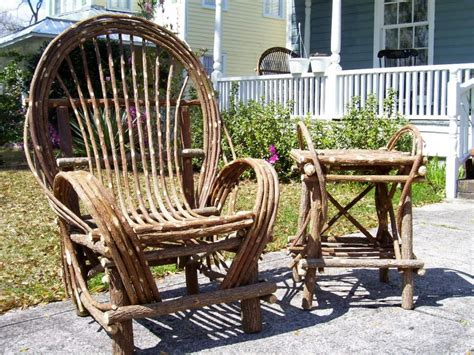 new rustic twig willow chair log cabin furniture ebay