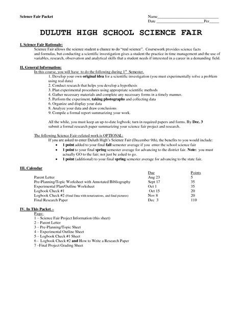 Grade 8 Resume Exles by Science Fair Research Paper Exles 28 Images High