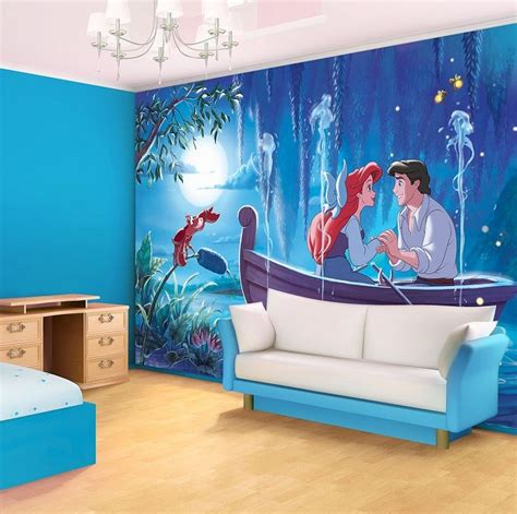 disney wallpaper for bedrooms ariel the little mermaid disney character giant wall mural